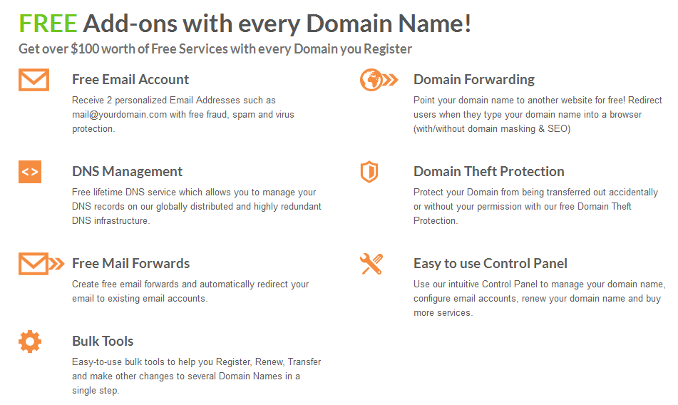 Free With Every Domain Registration